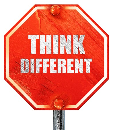 57177401 - think different, 3d rendering, a red stop sign